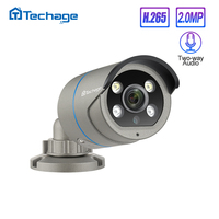 H.265 1080P 2.0MP POE IP Camera Two Way Audio IR Outdoor Waterproof P2P ONVIF CCTV Security Video Surveillance AI Camera for NVR