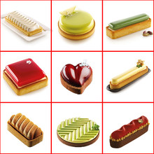 Silicone Molds Kit Tart Ring Cake Decorating Tools Round Chocolate Mold For Baking Mould Bakeware Dessert Mousse Pan(China)