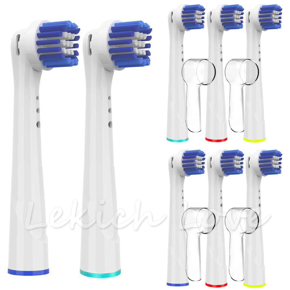 8 Pcs Toothbrush Heads for Electric Toothbrush Oral B Braun with 4 Pcs Covers Fit for Oral B Precision Clean Toothbrush Heads image