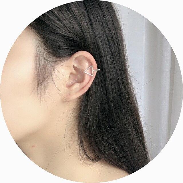 Ear Cuff Wrap Earrings Jewelry Piercing Clip On Earrings Triangle Cartilage Clip Diy Settings Black Color.jpg 640x640 - Ear Cuff Wrap Earrings Jewelry Piercing Clip On Earrings Triangle Cartilage Clip Diy Settings Black Color
