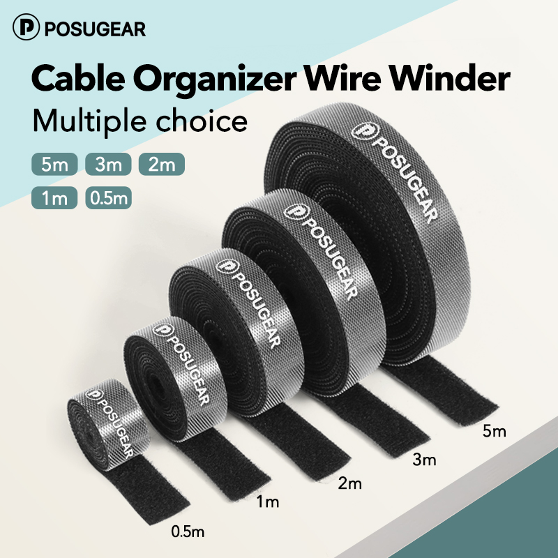 Posugear Cable Organizer Wire Winder Earphone Holder Mouse Cord Protector HDMI Cable Management For IPhone Samsung Xiaomi Cable