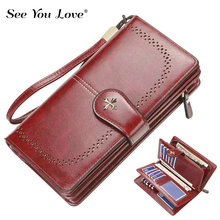 2019 New Retro Long Purses Female Wallets Woman Luxury Brand Hasp Fashion Zipper Leather Purse Ladies Wallet Women Card Holder недорго, оригинальная цена