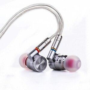 Image 2 - TinHiFi T4 Zinn Audio In Ear Monitor Kopfhörer Professionelle Hallo fi Metall Headset Hifi Wired Mmcx Stereo Kopfhörer Austauschbare Kabel