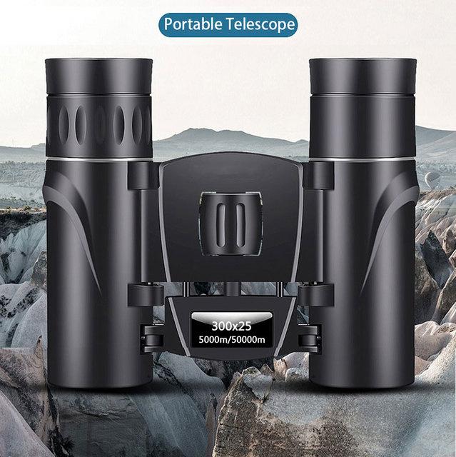 300X25 Professional Binoculars Powerful 50000M Broadband Green Film Portable Telescope HD Quality BAK4 Prism Monocular Camping 2
