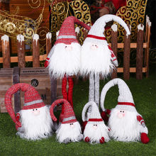 Christmas Table Decoration Lovely Rudolf Figures Xmas Tree Decor Supplies Gnomi Dolls Festival Birthday New Year Wedding Gifts(China)