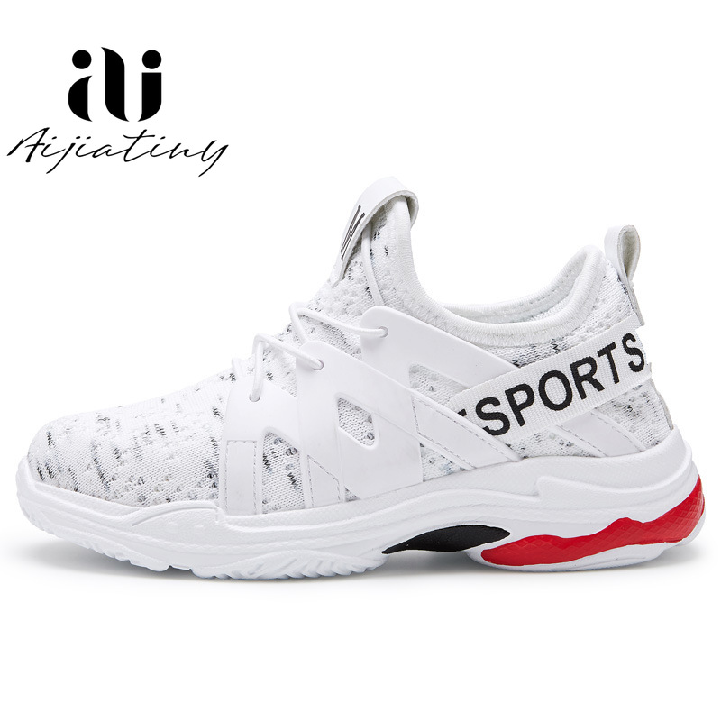 Spring Kids Sneakers Children Shoes Breathable casual sneakers for boys Girls Trainer FlyKnit white kids running shoes 2020|Sneakers| |  -