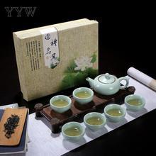 Sky Blue Chinese Travel Kung Fu Tea Set Ceramic Portable Teapot Porcelain Teacup Kettles Suit Ceremony Drinkware