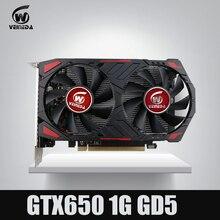 GTX650 GPU Veineda, tarjeta de vídeo GTX650, gráficos de 1G 128Bit gtx, tarjeta de juego vga 1059/5000MHz más fuerte que HD6570 para nVIDIA Gamings