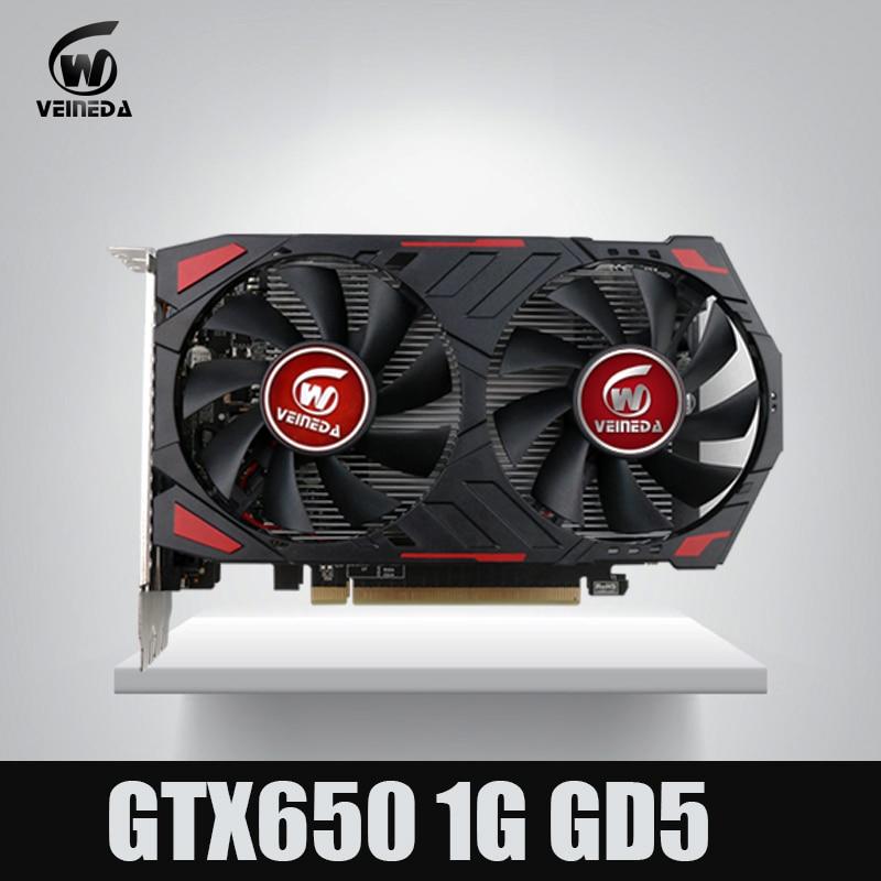GTX650 GPU Veineda video card GTX650 1G 128Bit gtx graphics vga game card 1059/5000MHz Stronger than HD6570 for nVIDIA Gamings video card game graphic card vga card - title=