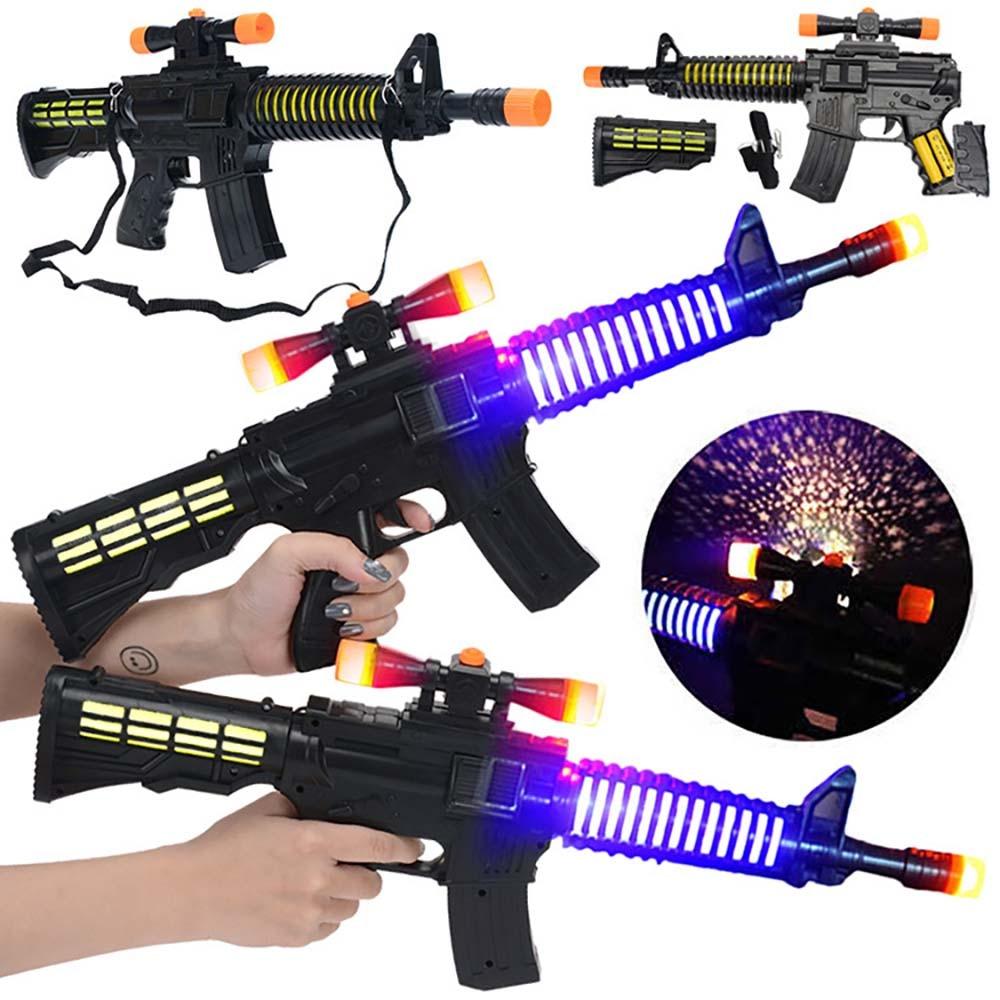 Sound And Light Simulation Music Gun Children's Toy Gun Boy Submachine Gun Outdoor Sports Role-playing Birthday Gift SX108