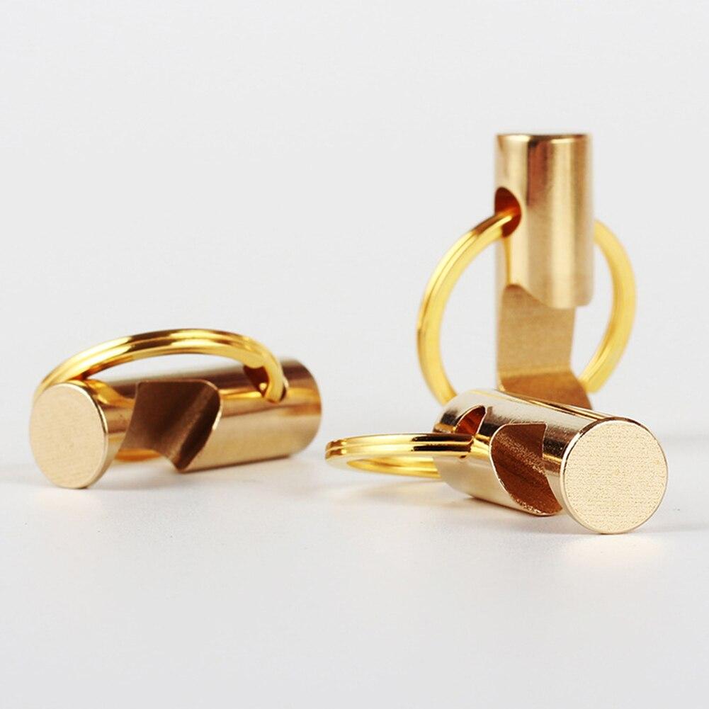 Pocket Tool Keychain Beer Bottle Brass Outdoor EDC Portable Mini Keyring Opener Pendant Anti-oxidation