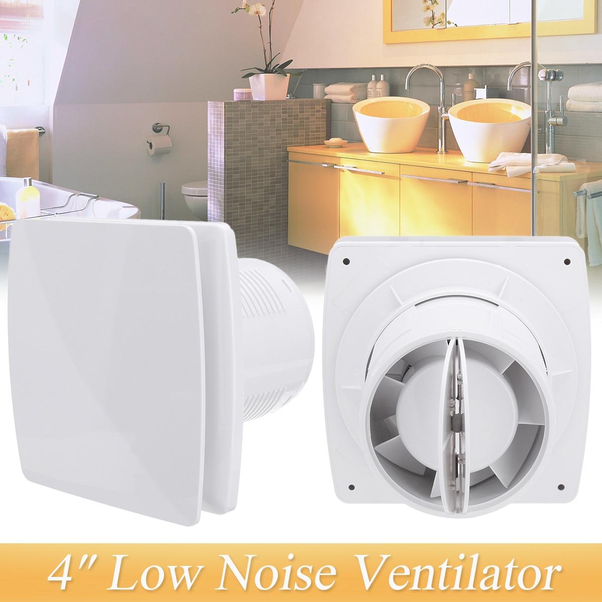 4 Inch 6 Inch Duct Fan 220V Ventilator Exhaust Fan Vent Blower Air Ventilation Home Bathroom Kitchen Toilet Wall Fan Low Noise