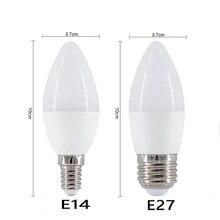 E14 LED Candle bulb E27 220V led light chandelier lamp Candle Bulb  Lamp Decoration Light Warm/White Energy Saving