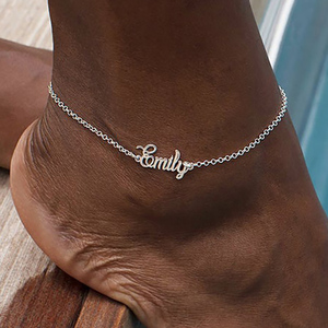 Custom Name Anklet Foot Stainless Steel Chain Personalize Anklets for Women Bohemian Beach Jewelry Fashion Bridesmaid Gift(China)