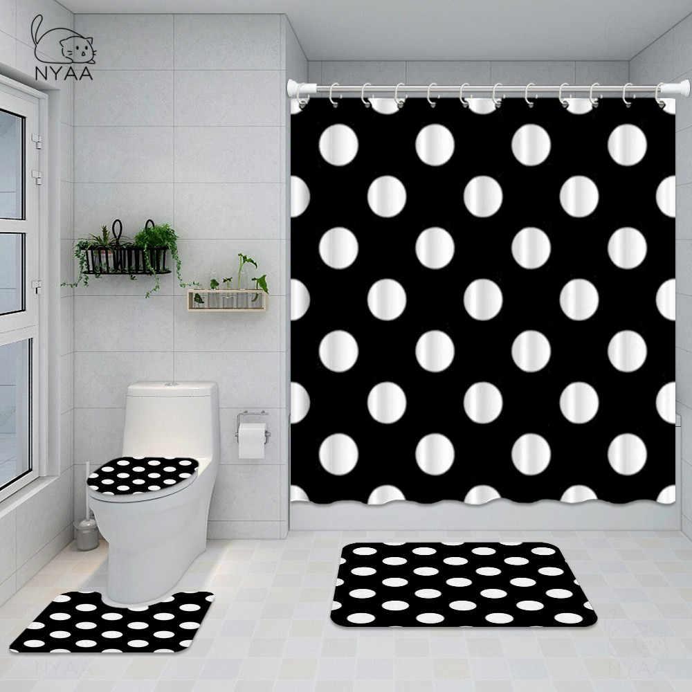 Nyaa Vintage Polka Dots Bathroom Set