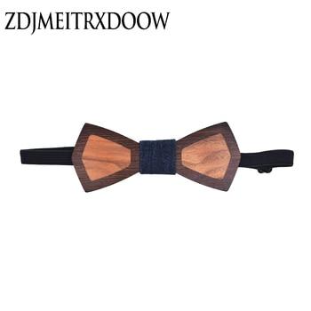 цена на Fashion Party Wooden Bow Tie Adult Individual Patchwork Design Wedding Wood Ties For Men Factory Wholesale Gravata Borboleta