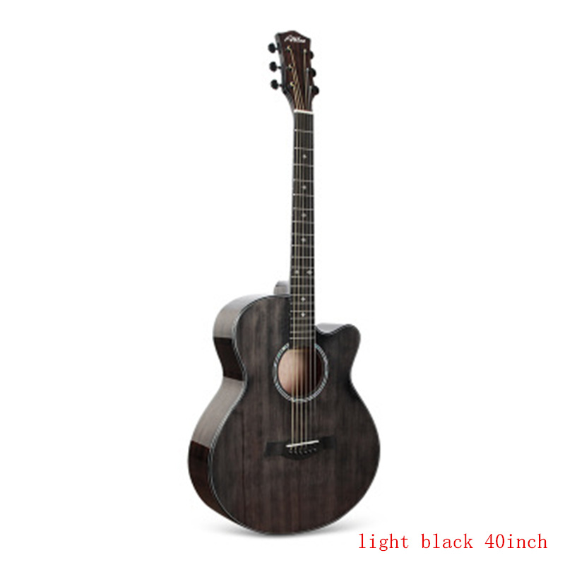 <font><b>36</b></font> 40 41 inch Cutaway Folk <font><b>Guitar</b></font> 6 Strings Glossy finishing solid Zebrawood Acoustic <font><b>Guitar</b></font> wholesale Concert <font><b>Guitar</b></font> AGT133 image
