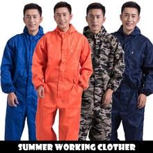 Working Safety Garment for Men Women Hooded Anti dust Reflective Strip Clothing Suit Mechanic Repairmen Paint Spraying