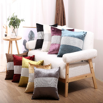 Modern Nordic Soft Plush With Bright Diamond Cushion Cover for Sofa Car Decorative Throw Pillow Case image