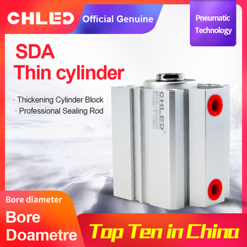 Chled Pneumatic Cylinder SDA Type 12/16/20/25/32/40/50/63mm Bore 5/10/15/20/25/30/35/40/45/50mm Stroke  Pneumatic Air Cylinder standard air cylinders 32 40 63mm bore 50 75 100 125 150 175 200 250 300mm stroke double acting pneumatic cylinder sc makerele
