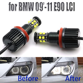 240W LED Angel Eye Bulbs 6000K Diamond White 4000LM for BMW 2009-2011 3 Series E90 Sedan (LCI) image