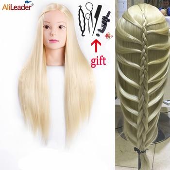 Alileader Wholesale Long Hair Training Head Practice Doll Mode