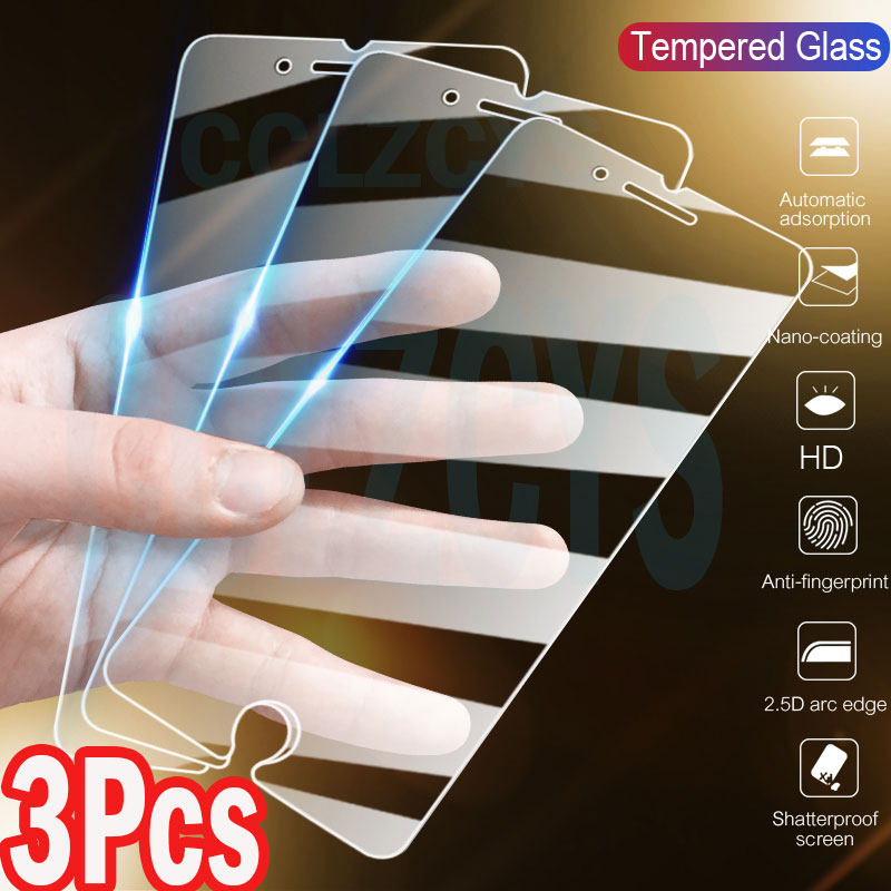 3Pcs Tempered Glass For iPhone 11 Pro Max X XS XR iPhone 11 7 SE 2020 Screen Protector Glass For iPhone 7 8 6 6S Plus 5 5S Glass