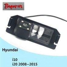 Для hyundai i10 i20 2008~ Автомобильная камера заднего вида HD CCD ночного видения обратная парковочная резервная камера NTSC PAL