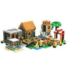 Blocs de construction édition spéciale Village, avec figurines Steve, compatibles avec l'ensemble de jouets My World, 21128
