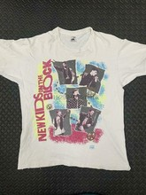 Vintage 80s Nouveaux Enfants Sur Le Bloc 1989 Bande T-shirt Unisexe Réimpression S-4XL B1014