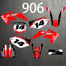 0906 Motorcycle Foil Sticker Graphic Pattern Custom Thickened0.8mm Sunscreen Waterproof Bright For HONDA 2007 2018 CRF150R