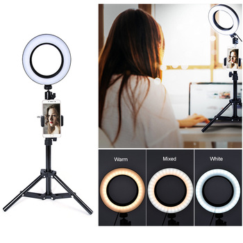 LED Selfie Ring Light Ring Lamp Makeup studio Photography lighting with Stand Tripod Annular Lamp for Video YouTube Photo spash tl 240s 1 set led video light with tripod stand cri 93 3200k 5600k studio photo lamp led light panel photographic lighting
