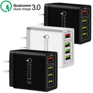 Быстрое зарядное устройство с 4 портами Usb QC3.0 Eu US AC для дома и путешествий, настенное зарядное устройство, адаптер питания для Samsung S8 S10 Note 10 Htc ...