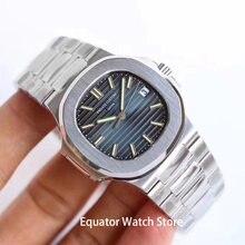 Męski automatyczny zegarek mechaniczny 316L szczotkowane opakowanie ze stali nierdzewnej 41mm mężczyźni Luminous Wateproof zegarek na rękę z kalendarzem mężczyzna zegar