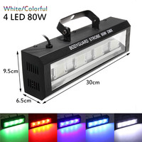 80W LED Stage Lighting Effect DMX512 Voice Activated AC90 240V White/Colorful US Plug Commercial Lighting for Christmas Home KTV