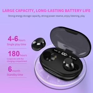 Image 2 - Auriculares TWS 5,0, inalámbricos por Bluetooth, auriculares estéreo 3D con micrófono Dual, batería portátil Digital LED, auriculares con reducción de ruido