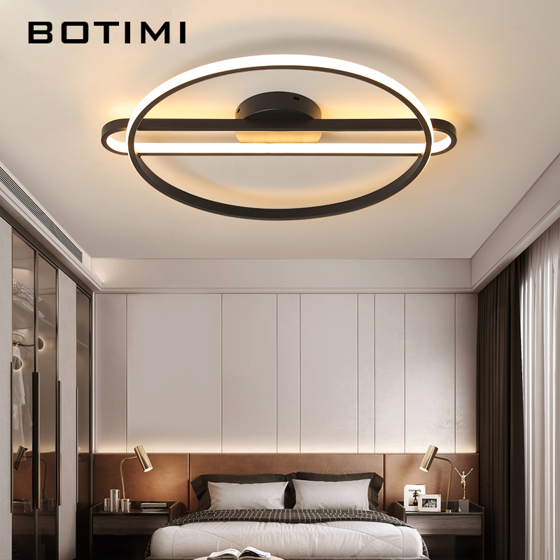 BOTIMI 2 Rings 220V LED Ceiling Lights For Living Room Modern Bedroom Home Ceiling Lamp Surface Mounted Rooms Home Lustres