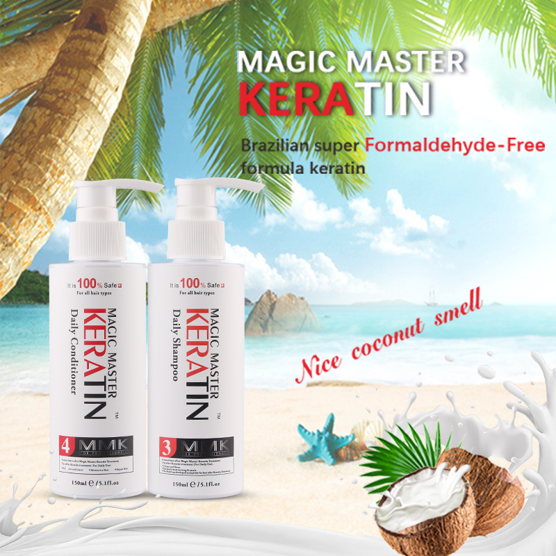 150ML Magic Master Coconut + Hair Daily Shampoo and 150ML Daily Conditioner For Dry Damaged Hair Treatment Soft image