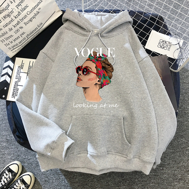 2021 Fashion VOGUE Princess Hoodies Women Harajuku Sweatshirt Streetwear Hoodie Female Pullovers Kawaii Clothing Aesthetic 5