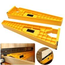 2 pçs gaveta gabarito de trilha instalação deslizante gabarito suporte de posicionamento auxiliar instalação rápida do gabinete de montagem do localizador hardwar