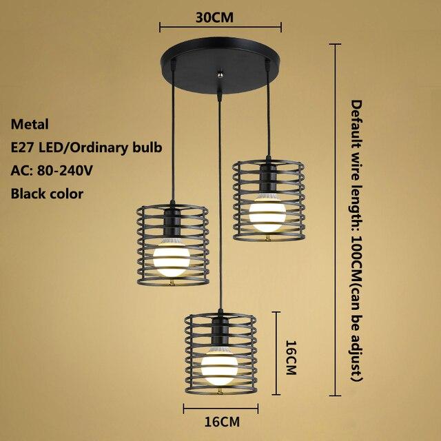 Zwarte Retro Industriële Hanglampen  2
