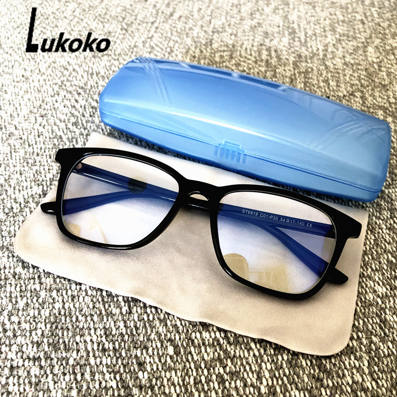 LUKOKO Anti Blue Light Ray Radiation Glasses For Computer Gaming Eyeglasses Men Women Blue Blocking Blocker Goggles Gafas Luz