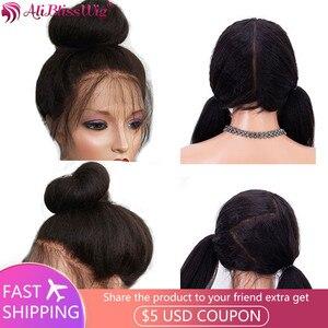Парики из человеческих волос Yaki для чернокожих женщин, прямые бразильские волосы Remy