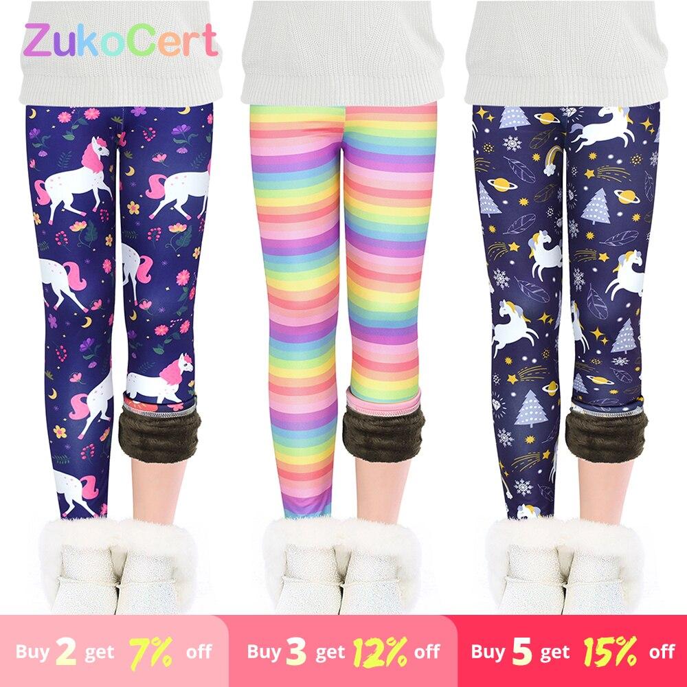 Kids Baby Girls Milk Silk Fleece Tights Long Pants Children Winter Warm Trousers