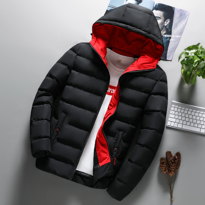 Hooded Winter Zipper Coat Outwear Jacket Hip Hop Parkas Fashion Mens Coat Men Clothes Boys Casual Warm
