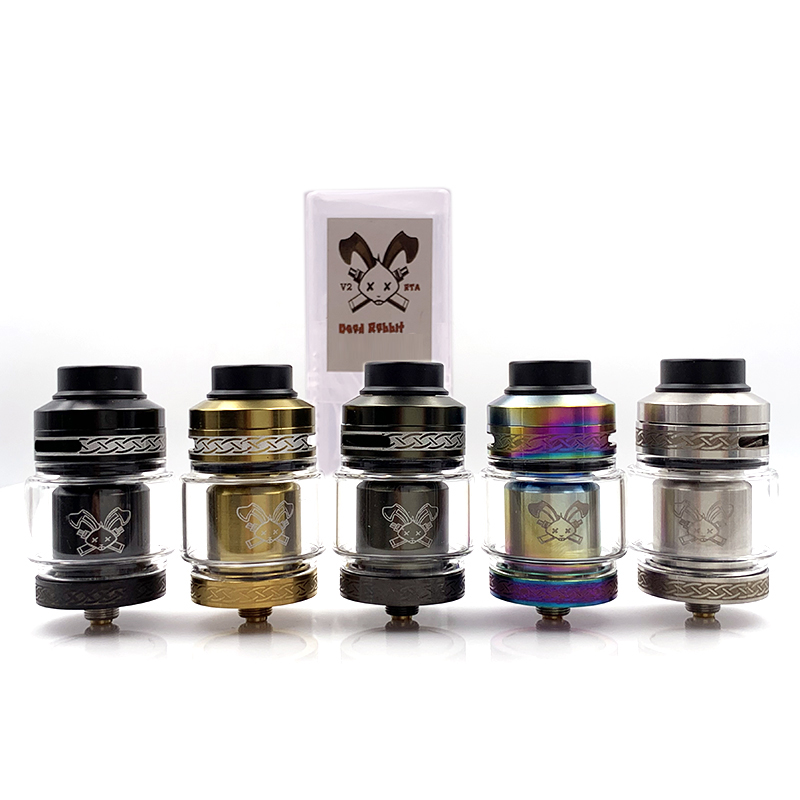 Vmiss Dead Rabbit V2 RTA Tank 2ml/5ml Base Dual Coil Vape Atomizer Deck for 510 Thread Electronic Cigarette Mod