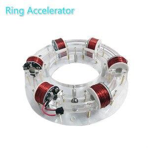 Image 4 - טבעת מאיץ ציקלוטרון ההייטק צעצוע פיזי דגם Diy ערכת ילדי מתנת צעצועים