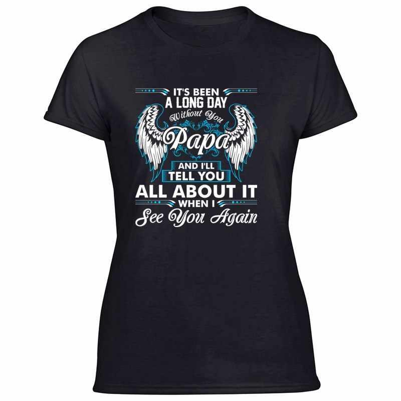 Gaya Baru untuk Hari Yang Panjang Tanpa Anda Opa Tshirt untuk Wanita 100% Cotton Lucu Pria dan Wanita baju Lengan Pendek