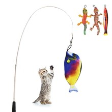 Cats-Product Paw-Stick Simulation-Fish Gatos Cat Interactive Funny with Lizard Toy Juguetes