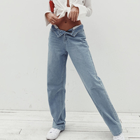 Boyfriend Jeans for Women High Waist Baggy Straight Retro Washed Plus Size Mom Denim Pants Blue Cotton 2020 Fashion New
